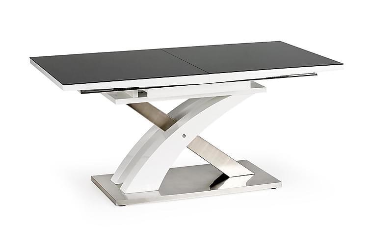 MAYORGA Förlängningsbart Matbord 160 Svart/Vit - Möbler & Inredning - Bord - Matbord