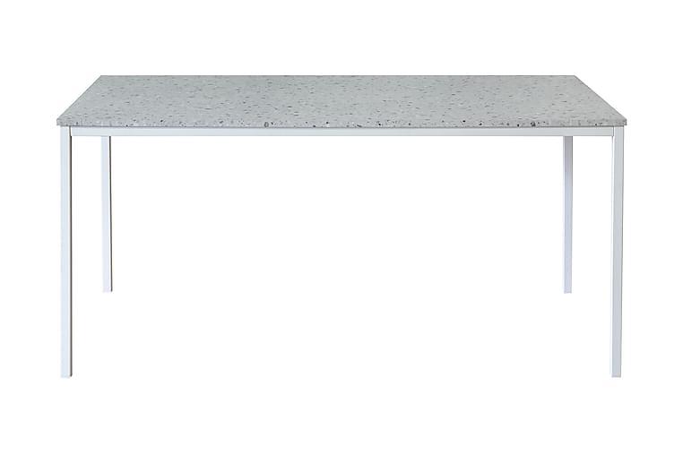 MILANTO Matbord 158 Ljusgrå Terrazzo/Vit - Möbler & Inredning - Bord - Matbord