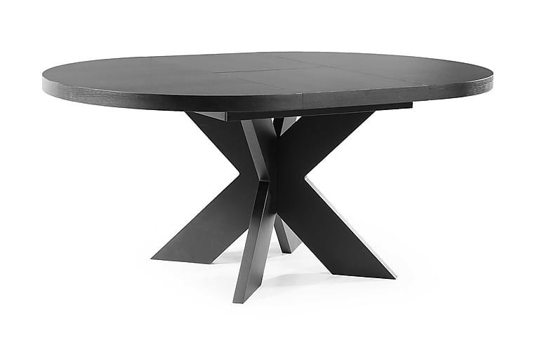 MIRONA Förlängningsbart Matbord 120 Runt Svart - Möbler & Inredning - Bord - Matbord