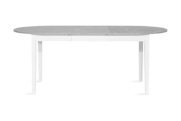 MORGAN t Matbord 150 Oval Vit/Grå - Möbler & Inredning - Bord - Matbord