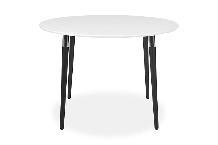 NAJMA Matbord 110 Vit/Svart - Möbler & Inredning - Bord - Matbord