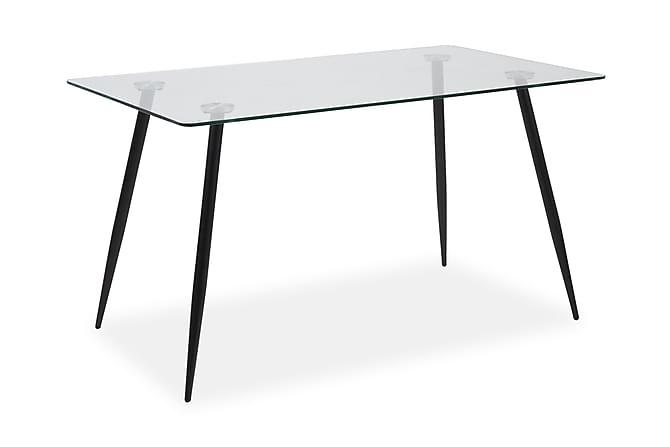 NORVIN Matbord 140 Glas/Svart - Möbler & Inredning - Bord - Matbord