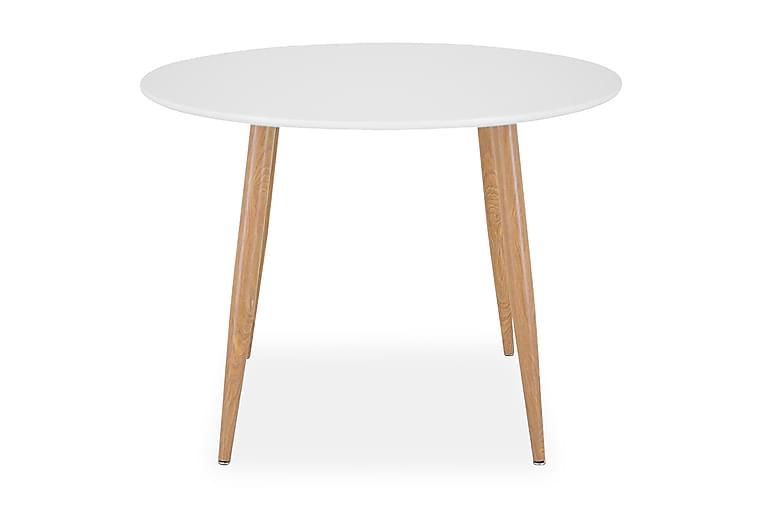 PEDER Matbord Runt Vit/Ek - Möbler & Inredning - Bord - Matbord