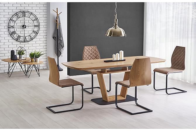 SOHAM Förlängningsbart Matbord 160 Ek/Svart - Möbler & Inredning - Bord - Matbord