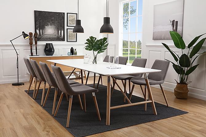 STERN Förlängningsbart Matbord 180 Vit/Ek - Möbler & Inredning - Bord - Matbord