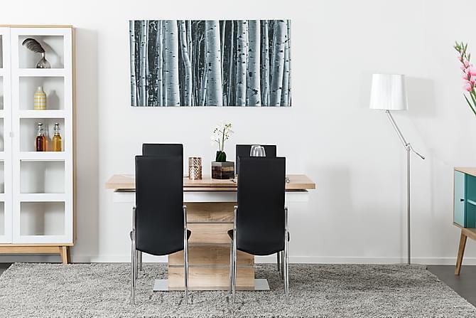 SUNNE Förlängningsbart Matbord 140 Ek/Vit - Möbler & Inredning - Bord - Matbord