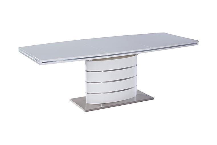 TOTTEA Förlängningsbart Matbord 160 cm Vit/Silver - Möbler & Inredning - Bord - Matbord