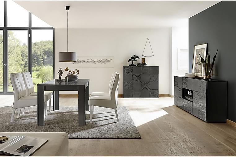 WALENS Förlängningsbart Matbord 180 Vit/Beige/Svart/Grå - Möbler & Inredning - Bord - Matbord
