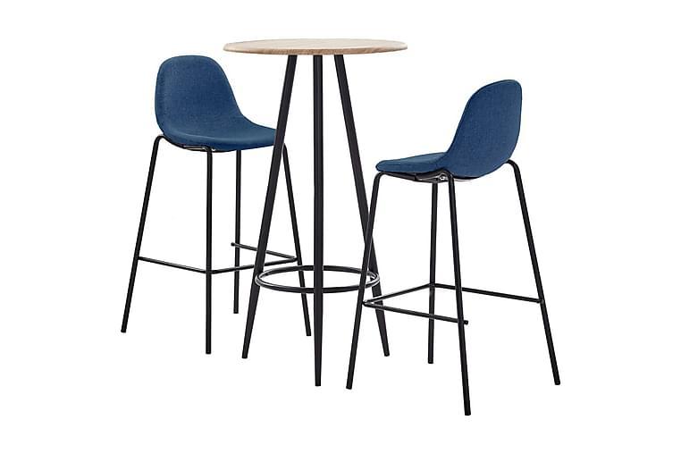 Bargrupp 3 delar tyg blå - Blå - Möbler & Inredning - Bord - Matgrupper