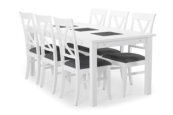 BARROW Bord + 6 HAILEY Stol Vit - Möbler & Inredning - Bord - Matgrupper