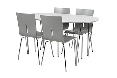 CHANCE Matgrupp 150 cm Ovalt med 4 MERYL Stol