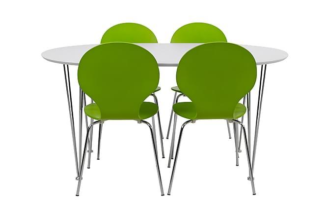 CHANCE Matgrupp 150 Ovalt + 4 NINA Stol Vit - Möbler & Inredning - Bord - Matgrupper