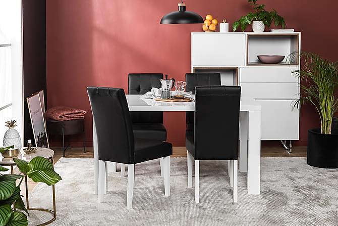 CIBUS Matgrupp 140x90 med 4 Viktor Stol Vit/Svart - Möbler & Inredning - Bord - Matgrupper