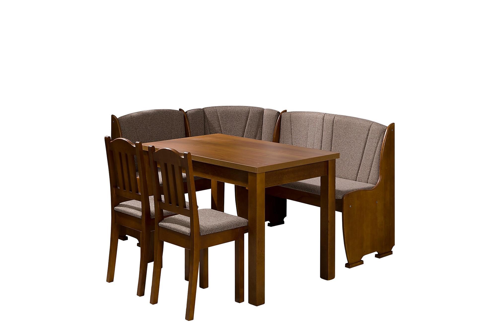 KLEBE Matgrupp Brun, Möbelset för kök & matplats