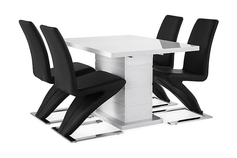 KULMBACH Bord Förlängningsbar 120 + 4 DUMAS Stol - Möbler & Inredning - Bord - Matgrupper
