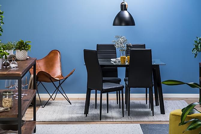 MARCELEN Matgrupp med 4 Ted Stol - Möbler & Inredning - Bord - Matgrupper