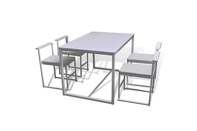Matbord och stolar fem delar vit - Vit - Möbler & Inredning - Bord - Matgrupper