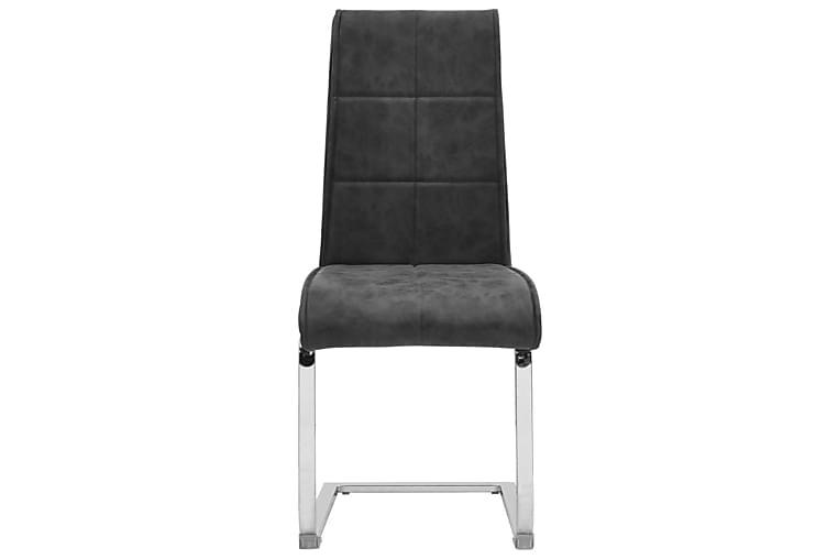 Fribärande matstolar 2 st svart konstläder - Svart - Möbler & Inredning - Stolar - Matstolar