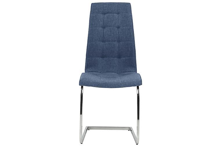 Fribärande matstolar 4 st blå tyg - Blå - Möbler & Inredning - Stolar - Matstolar