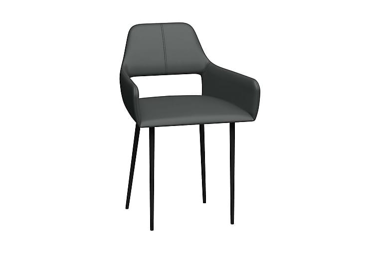 Matstolar 2 st grå konstläder - Grå - Möbler & Inredning - Stolar - Matstolar