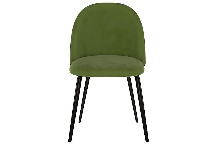 Matstolar 4 st grön tyg - Grön - Möbler & Inredning - Stolar - Matstolar
