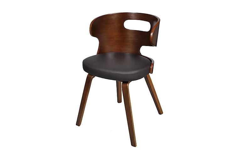 Matstolar 6 st brun konstläder - Brun - Möbler & Inredning - Stolar - Matstolar