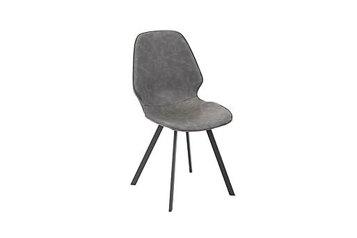 Stol HELENA 50x46xH82cm grått imiterat läder, Matstolar