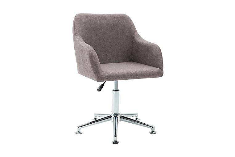 Snurrbar kontorsstol taupe tyg - Brun - Möbler & Inredning - Stolar - Kontorsstol