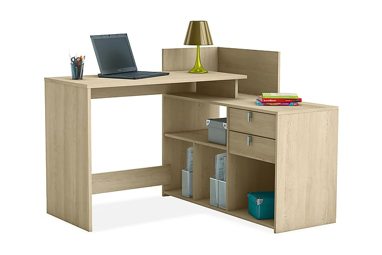 BOTVIND Skrivbord + Förvaring Ek - Möbler & Inredning - Bord - Skrivbord