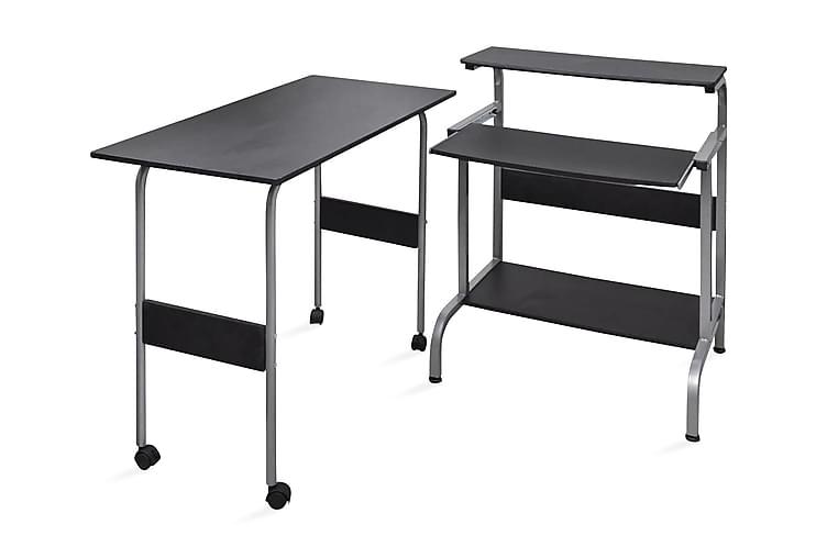 Datorbord Ekerö 90x45cm tvådelad svart - Svart - Möbler & Inredning - Bord - Skrivbord