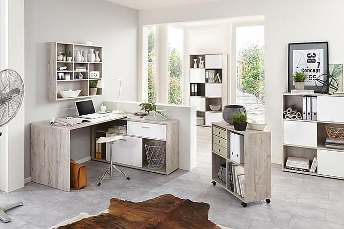 DIVO Skrivbord Sandek/Vit - Möbler & Inredning - Bord - Skrivbord