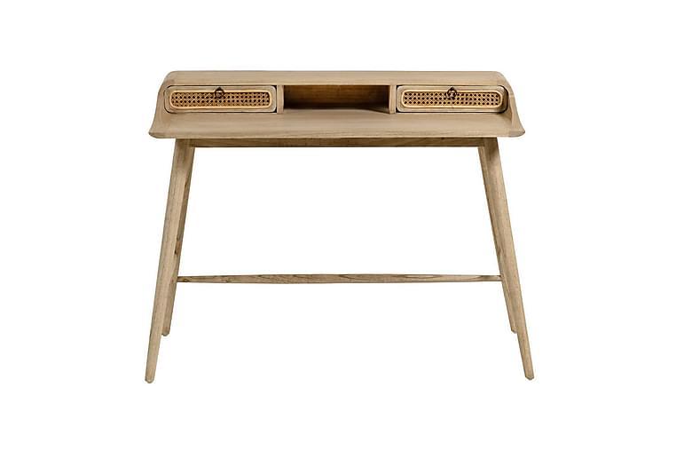 GHEZAIA Skrivbord 110 cm Trä/Rotting/Brun - Möbler & Inredning - Bord - Skrivbord