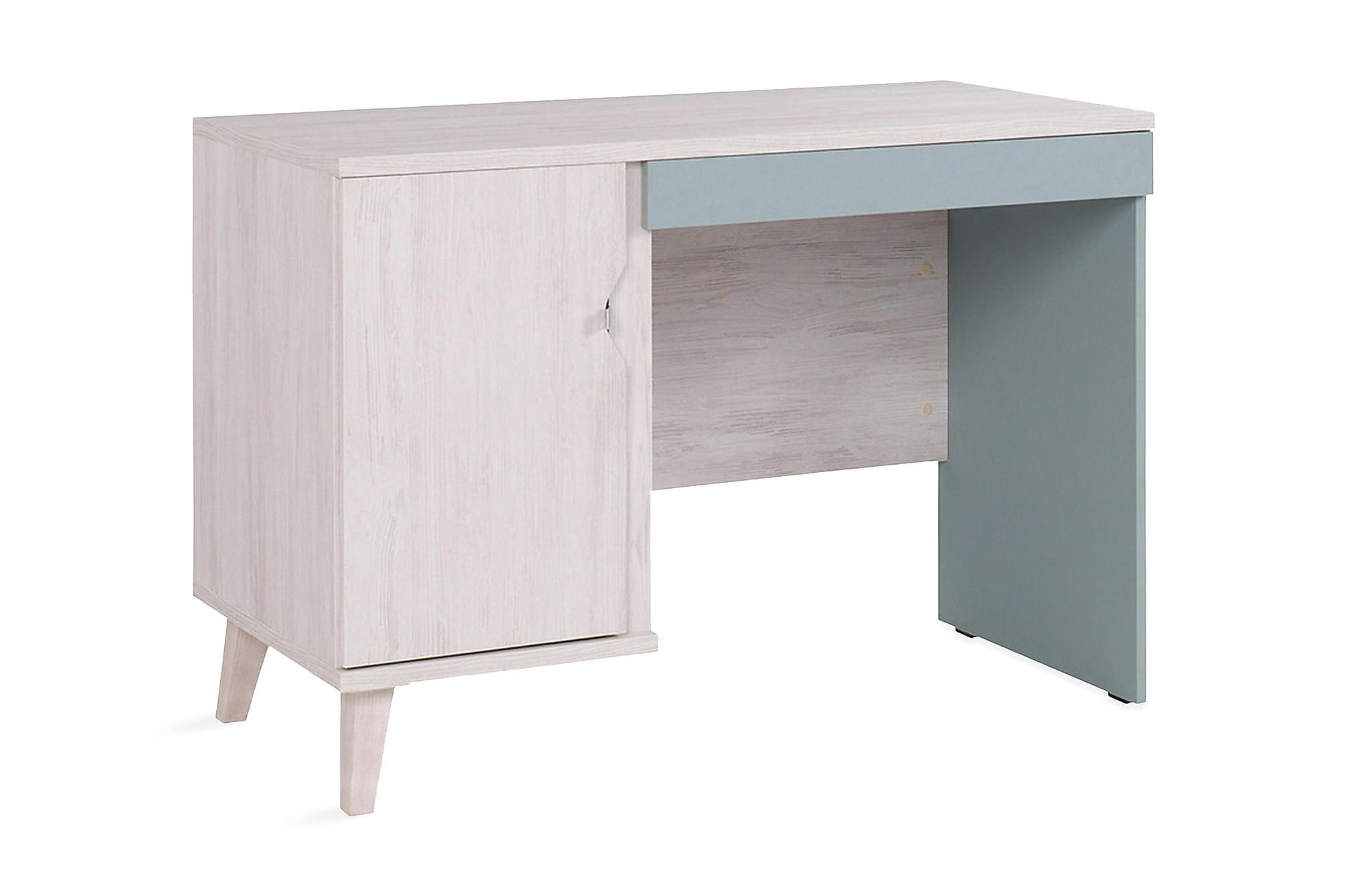 Norrhace skrivbord vit/blå