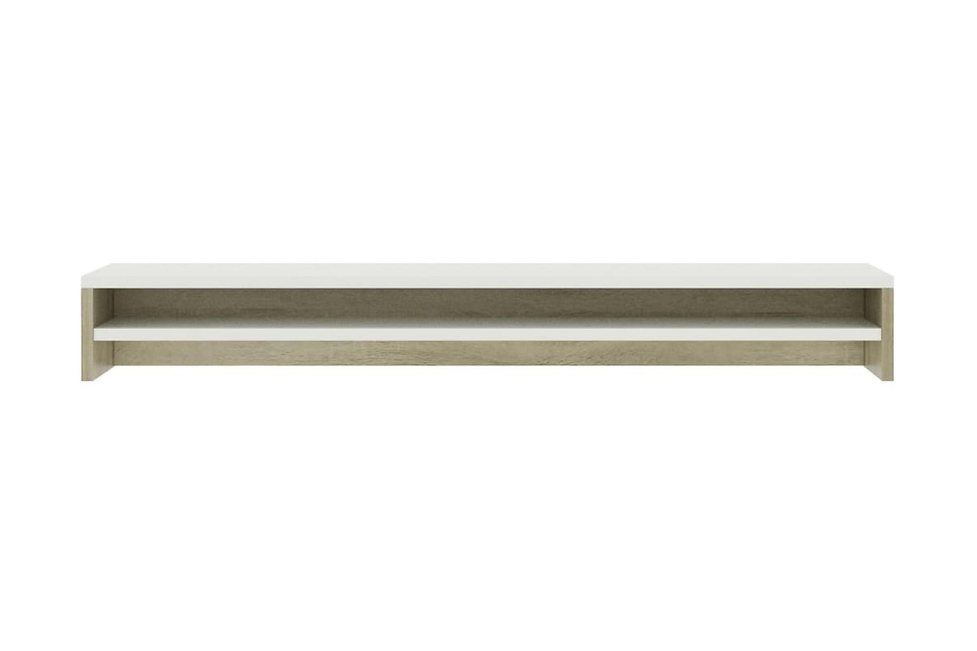 Skärmställ vit och sonoma-ek 100x24x13 cm spånskiva, Tv-väggfästen