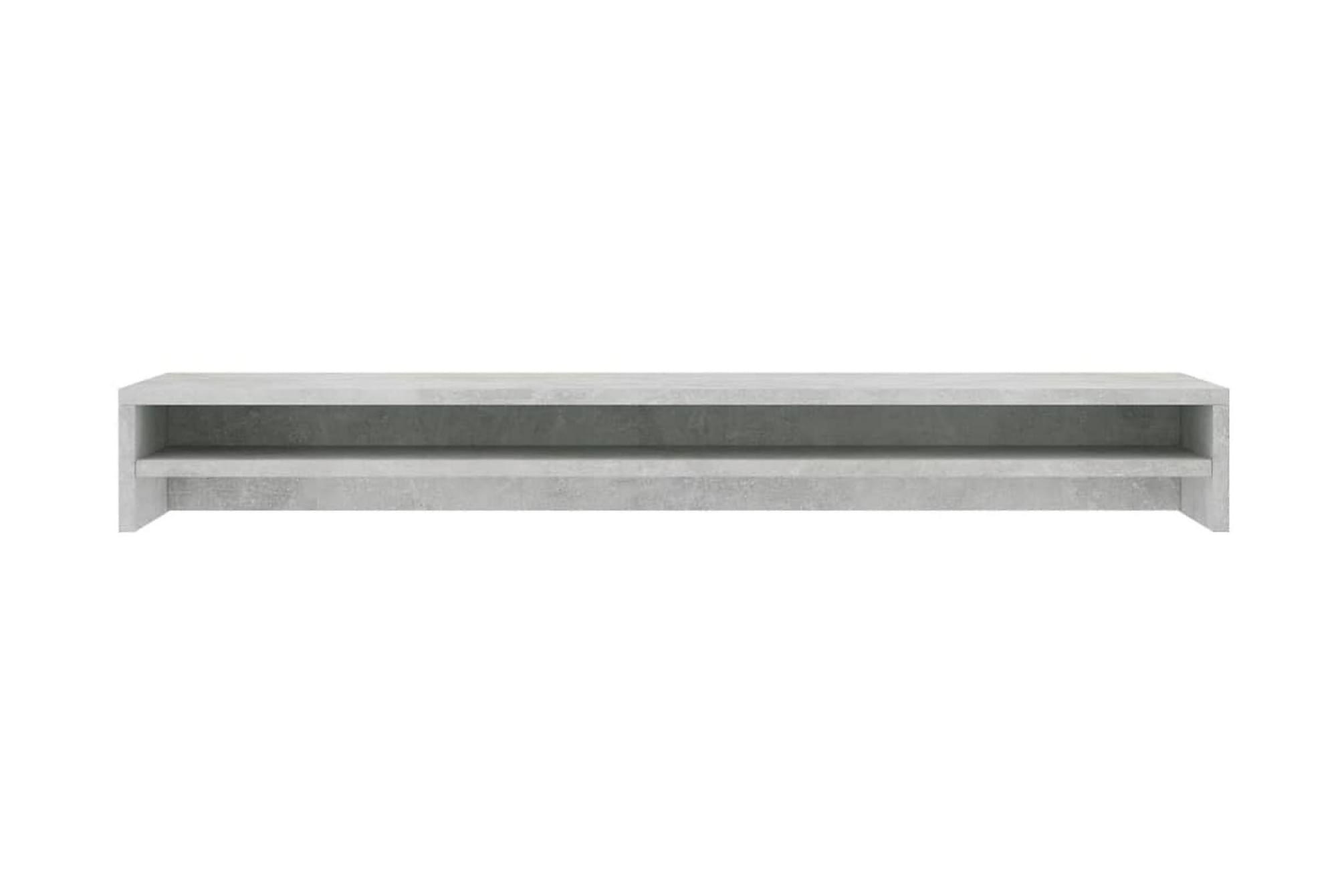 Skärmställ betonggrå 100x24x13 cm spånskiva, Tv-väggfästen