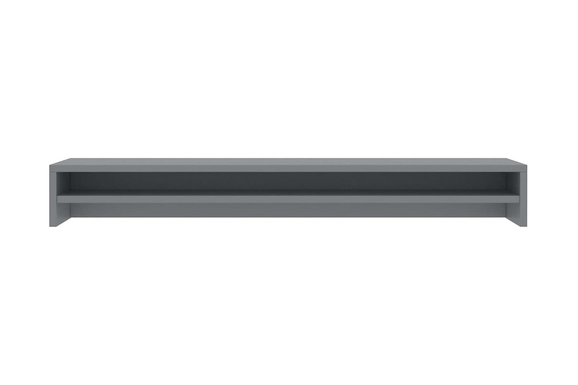 Skärmställ grå 100x24x13 cm spånskiva, Tv-väggfästen