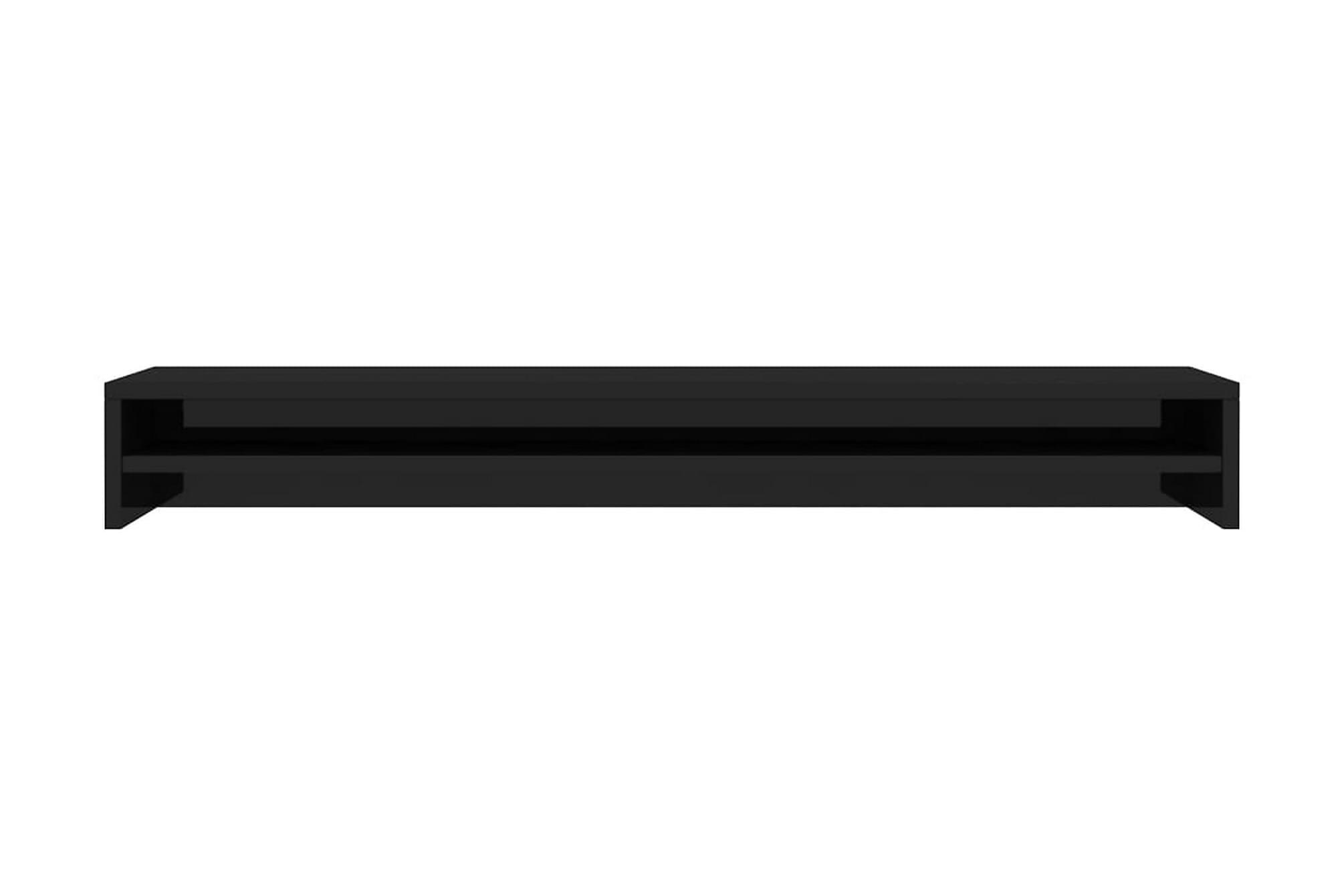 Skärmställ svart högglans 100x24x13 cm spånskiva, Tv-väggfästen