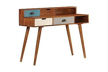 Skrivbord 110x50x90 cm massivt akaciaträ