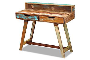Skrivbord i massivt återvunnet trä