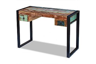 Skrivbord massivt återvunnet trä