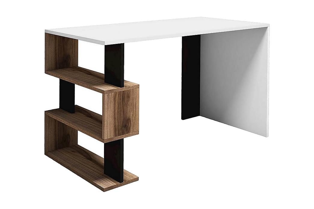SNAP Skrivbord Vit/Svart/Brun - Homemania - Möbler & Inredning - Bord - Datorbord