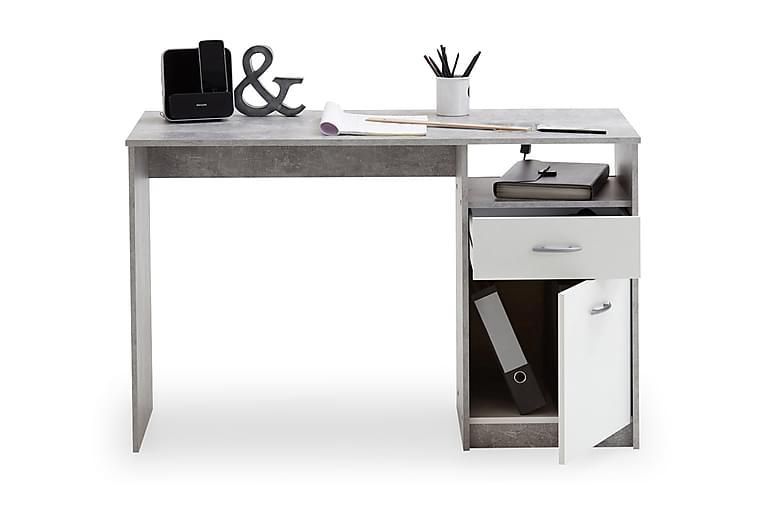 VANORA Skrivbord 123 Svart/Vit - Möbler & Inredning - Bord - Datorbord