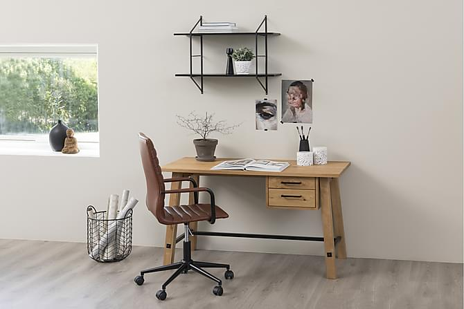 YAREN Skrivbord 130 Beige/Brun - Inomhus - Bord - Skrivbord