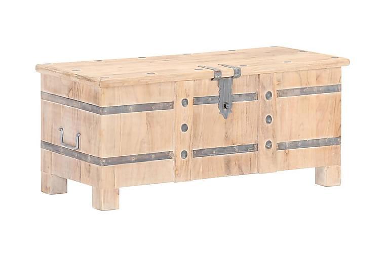 Kista 90x40x40 cm massivt akaciaträ - Brun - Möbler & Inredning - Sängar - Sängkista