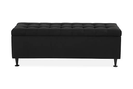NOVELLA Sängkista 140 cm Rutig Svart, Sängtillbehör