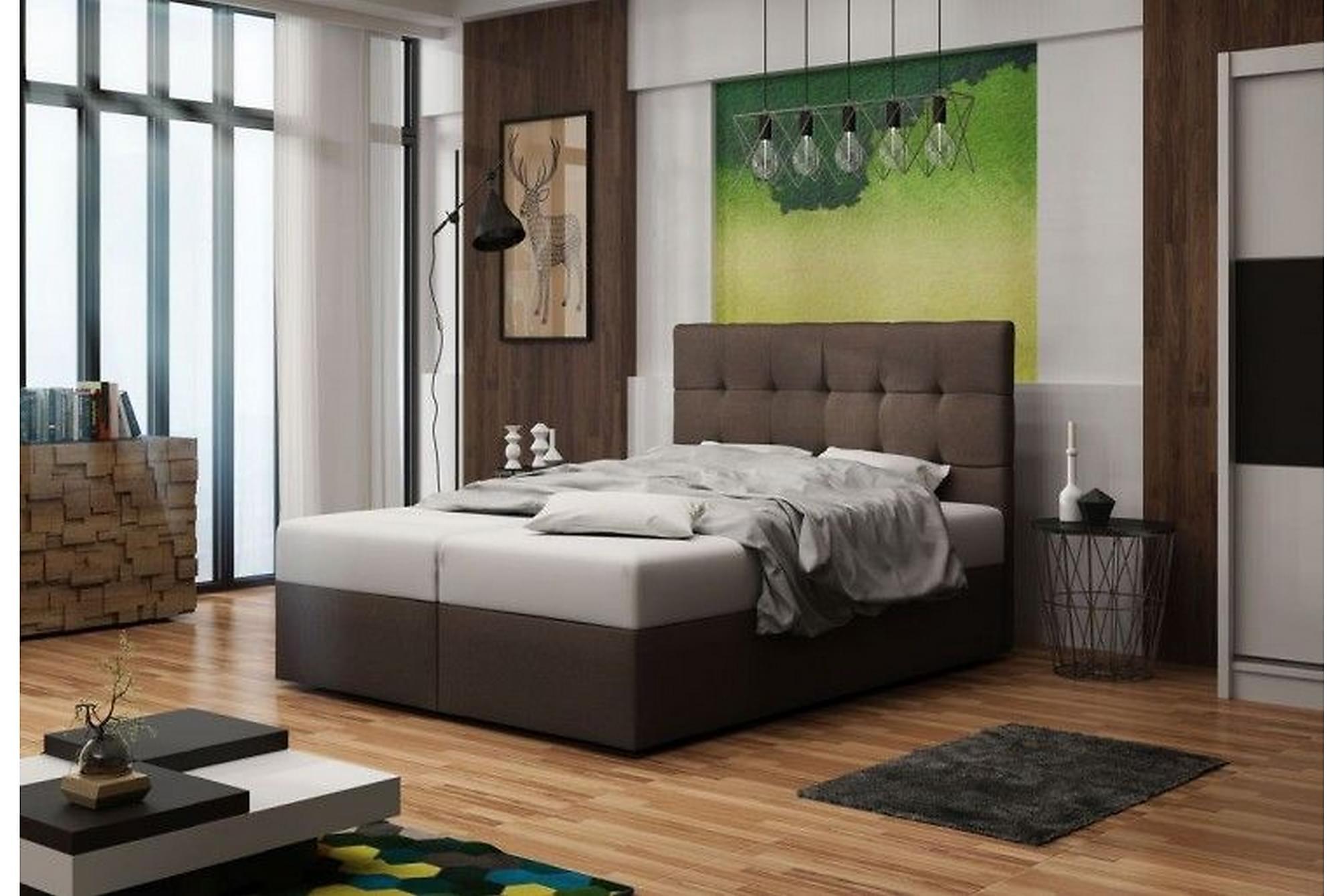 BEVERLEY Sängpaket 160 Brun, Komplett Sängpaket