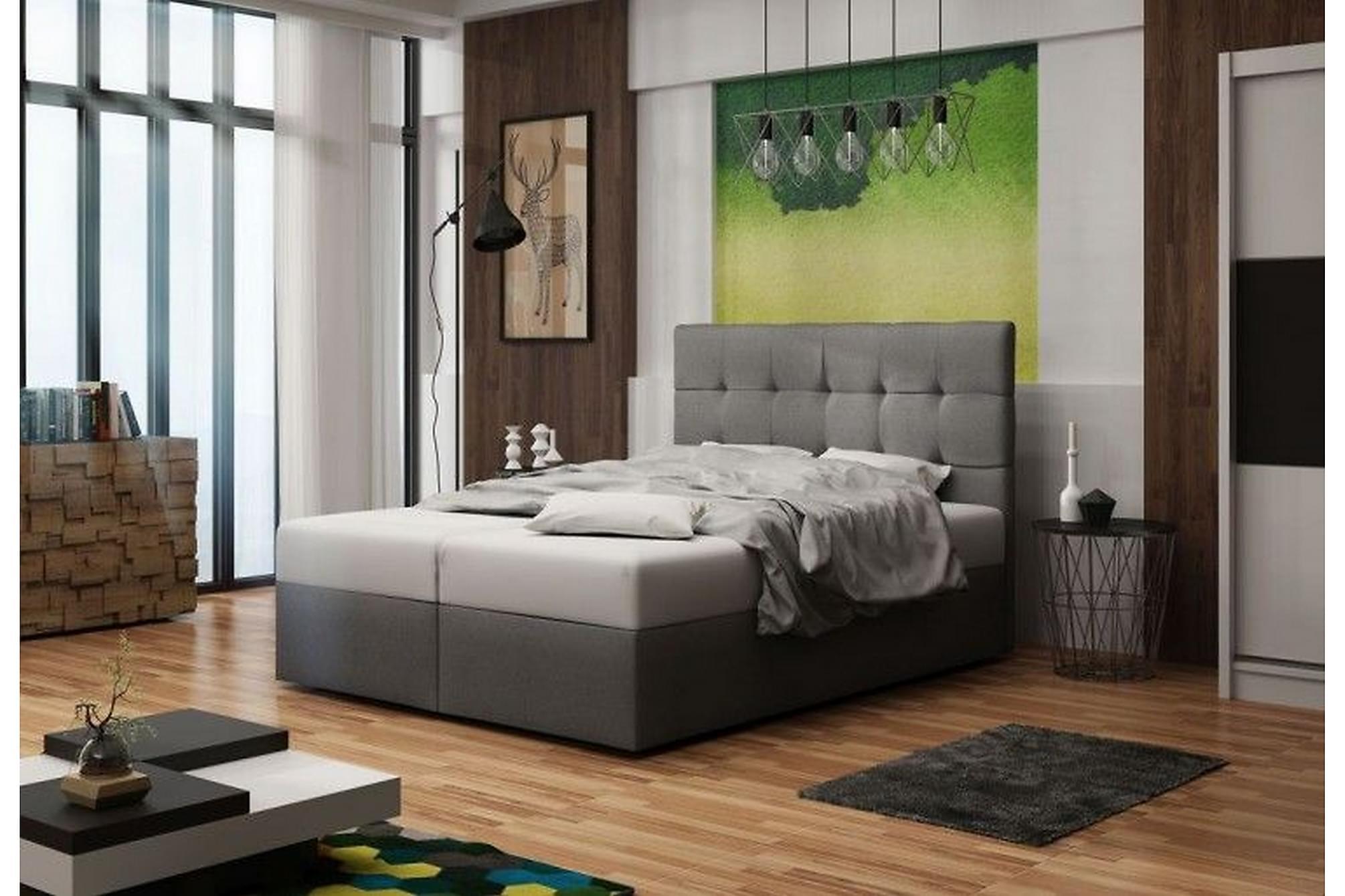 BEVERLEY Sängpaket 180 Grå, Komplett Sängpaket