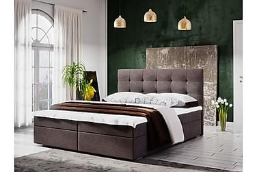 MAGDY Sängpaket 140 Rutmönstrad Gavel Brun