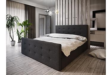 DANNI Sängpaket 140 Knappad Gavel Mörkgrå