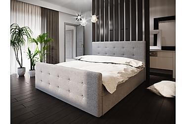 DANNI Sängpaket 160 Knappad Gavel Grå